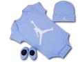 BH828 べビー Jordan Infant Set ジョーダン ロンパース 3点セット 赤ちゃん ベビー服 ギフトセット 水色白【箱付き】