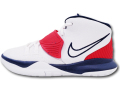 "KS680 キッズ/ジュニア Nike Kyrie 6 (PS) ""USA"" ナイキ ""カイリー・アービング"" バスケットシューズ バッシュ 白"