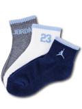 BK282 【メール便対応】  キッズ Jordan Quarter Socks ジョーダン 靴下3足セット 【22cm~25cm】