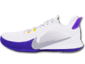 "NS770 【限定入荷!】 メンズ Nike Mamba Fury ""Lakers Home"" ナイキ ""コービー・ブライアント"" Kobe Bryant レイカーズ バスケットシューズ バッシュ 白ライトスモークグレー"