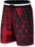 KL711 メンズ ナイキ ショーツ Nike Sportswear NSW All Over Shorts ハーフパンツ 赤黒白 【ルーズフィット】