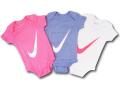 BH830 べビー Nike Infant Set ナイキ ロンパース3点セット 赤ちゃん ベビー服 ギフトセット ピンク紺白 【箱付き】