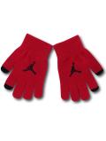 KC717 ジュニア ジョーダン スマホ対応 手袋 Jordan Youth Gloves キッズ ユース 赤黒 【メール便対応】