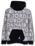 OK886 ジュニア Jordan Kids Stencil Pullover Hoodie ジョーダン パーカー キッズ 灰白黒