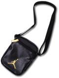 DB091 Jordan Regal Festival Bag ジョーダン ショルダーバッグ ポシェット 黒ゴールド 合皮