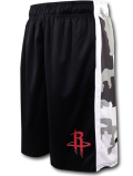 BN689 メンズ UNK NBA Houston Rockets Camo アンク ヒューストン・ロケッツ ショーツ バスパン 黒白灰