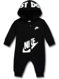 BY031 ベビー Nike Futura Infant Coverall ナイキ フード付き カバーオール ベビー服 赤ちゃん 黒白 【メール便対応】