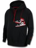 HJ101 メンズ ジョーダン プルオーバー パーカー Jordan Jumpman Holiday Pullover Hoodie 黒赤白