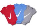 WA731 【SALE・わけあり】 べビー ナイキ ロンパース3点セット Nike Infant Set 赤ちゃん ベビー服 ギフトセット 赤水色灰 【箱付き】 サイズ6-12M
