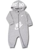 BY037 ベビー Nike Futura Infant Coverall ナイキ フード付き カバーオール ベビー服 赤ちゃん 灰白 【メール便対応】