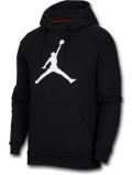 HJ005 メンズ Jordan Jumpman Logo Pullover Hoodie ジョーダン プルオーバー パーカー 黒白