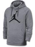 HJ006 メンズ Jordan Jumpman Logo Pullover Hoodie ジョーダン プルオーバー パーカー 灰黒