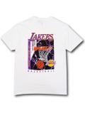 NB519 メンズ UNK NBA Los Angeles Lakers アンク ロサンゼルス・レイカーズ Tシャツ 白紫 【メール便対応】