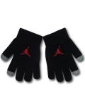 KC716 ジュニア ジョーダン スマホ対応 手袋 Jordan Youth Gloves キッズ ユース 黒赤 【メール便対応】
