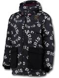 HJ074 メンズ ジョーダン パリ・サンジェルマン ダウンジャケット Jordan x PSG Paris Saint-Germain Down Jacket 黒白ゴールド【ルーズフィット】