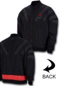 HJ089 メンズ ジョーダン ナイロンジャケット Jordan Legacy AJ6 VI Nylon Jacket 黒インフラレッド【ルーズフィット】