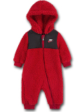 BY064 ベビー Nike Infant Coverall ナイキ フード付き もこもこカバーオール ベビー服 赤ちゃん 赤黒白