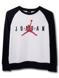 OK753 キッズ Jordan Crew Sweatshirt ジョーダン トレーナー 白黒赤
