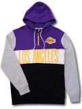NJ358 メンズ UNK NBA Los Angeles Lakers Hoodie アンク ロサンゼルス・レイカーズ パーカー 紫黒灰