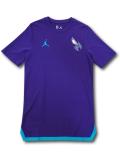 NB528 メンズ Jordan NBA Charlotte Hornets ジョーダン シャーロット・ホーネッツ Tシャツ 厚手 紫ティールグリーン 【メール便対応】