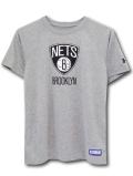 NK378 ジュニア Under Armour X NBA Brooklyn Nets アンダーアーマー ブルックリン・ネッツ トレーニングシャツ キッズ ユース Tシャツ 灰黒 【メール便対応】