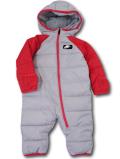 BY072 ベビー Nike Winter Puffer Hooded Snowsuit Coverall ナイキ スノースーツ 中綿カバーオール ベビー服 赤ちゃん 灰赤
