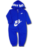 BY081 ベビー Nike Futura Infant Coverall ナイキ フード付き カバーオール ベビー服 赤ちゃん 青白 【メール便対応】