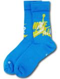 SS165 Jordan Jumpman Classic Legacy Crew Socks ジョーダン クルーソックス ミドル丈 靴下 ターコイズブルー黄色【ドライフィット】 【メール便対応】