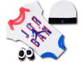 BH850 べビー Jordan Infant Set ジョーダン ロンパース 3点セット 赤ちゃん ベビー服 ギフトセット 白黒インフラレッド【箱付き】