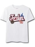 LL470 ジュニア Jordan Kids T-Shirt ジョーダン Tシャツ キッズ 白ワインレッド 【メール便対応】