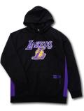 NJ360 メンズ UNK NBA Los Angeles Lakers Hoodie アンク ロサンゼルス・レイカーズ パーカー 黒紫