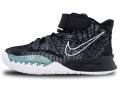"KS721 キッズ/ジュニア Nike Kyrie 7 (PS) ""BK Black"" ナイキ カイリー バスケットシューズ バッシュ 黒白【箱なし】"