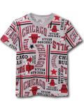 NK383 ジュニア UNK NBA Chicago Bulls アンク シカゴ・ブルズ Tシャツ キッズ 灰赤黒 【メール便対応】