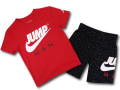 BP935 キッズ 子供用 Jordan Toddler Set ジョーダン Tシャツ&ハーフパンツパンツ セットアップ 赤黒白 【メール便対応】