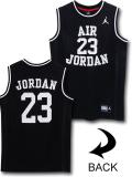KT105 ジュニア Jordan Fly Since 1982 Jersey ジョーダン ジャージ ノースリーブ キッズ 黒白 【メール便対応】