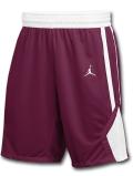 SJ907 メンズ Jordan Team Practice Shorts ジョーダン バスケットボールショーツ バスパン ボルドー白【ドライフィット】