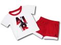 BT014 ベビー Jordan Infant Set ジョーダン トレーニング Tシャツ&パンツ セットアップ ベビー服 子供用 白赤黒 【ドライフィット】 【メール便対応】