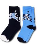 BA583 キッズ 子供用 Jordan Jumpman Classics Crew Socks ジョーダン クルーソックス 2足セット リトルキッズ 靴下 15cm~17cm 紺水色 【メール便対応】