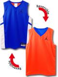 KT110 ジュニア Jordan Reversible Sleeveless ジョーダン リバーシブル トレーニングノースリーブ キッズ 青オレンジ白 【メール便対応】