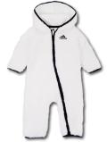 BO010 ベビー adidas Hooded Coverall Baby アディダス フード付き もこもこカバーオール ベビー服 赤ちゃん 白黒