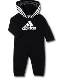 BO008 ベビー adidas Hooded Coverall Baby アディダス フード付きカバーオール ベビー服 赤ちゃん 黒白 【メール便対応】