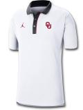 JP250 メンズ Jordan NCAA オクラホマ大学 スーナーズ Oklahoma Sooners Polo ジョーダン カレッジポロシャツ 白黒【ルーズフィット】