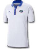 JP251 メンズ ジョーダン NCAA フロリダ大学 ゲイターズ カレッジポロシャツ Jordan Florida Gators Polo 白青【ルーズフィット】