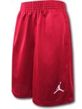 SK381 ジュニア Jordan Youth Shorts ジョーダン バスケットボール メッシュショーツ キッズ バスパン 赤白 【メール便対応】
