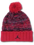 KC720 ジュニア ジョーダン ポンポン ニットキャップ Jordan Pon Beanie キッズ ビーニー 帽子 赤ダークグレー 【メール便対応】