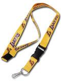 HO728 NBA Neck Strap Lanyard ネックストラップ L.A. Lakers ロサンゼルス・レイカーズ 黄色 【メール便対応】
