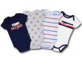BO012 ベビー Tommy Hilfiger Rompers Baby トミー ヒルフィガー ロンパース 4枚セット ベビー服 赤ちゃん 紺灰水色白