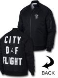 HJ087 メンズ ジョーダン ボンバージャケット Jordan Wings City of Flight MA-1 Jacket 中綿ジャケット 黒白
