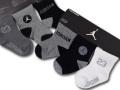 BA627 ベビー ジョーダン ソックス 6足セット Jordan Socks ベビー服 赤ちゃん 靴下 灰黒白 【メール便対応】