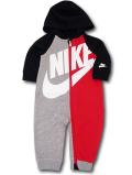BY120 ベビー Nike Infant Coverall ナイキ フード付き カバーオール ベビー服 赤ちゃん 黒灰赤 【メール便対応】